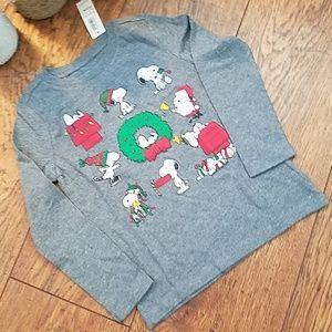 NWT Old Navy Kid Long Sleeve Snoopy Tshirt (Sz 4T)